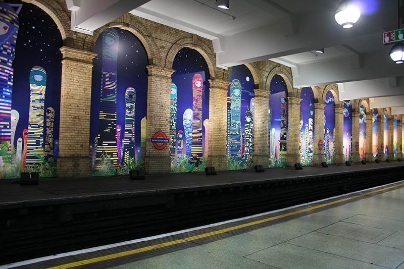 Chiho Aoshima Gloucester Road Tube Station