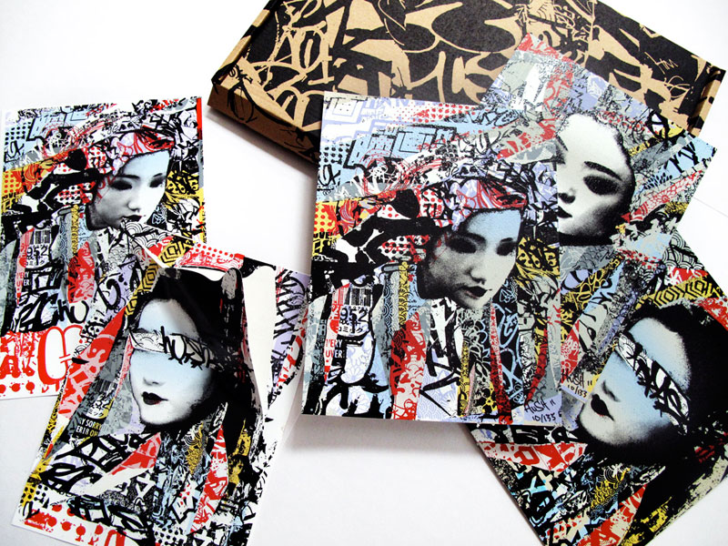 Hush Geisha UN-Masked Print & Sticker Set