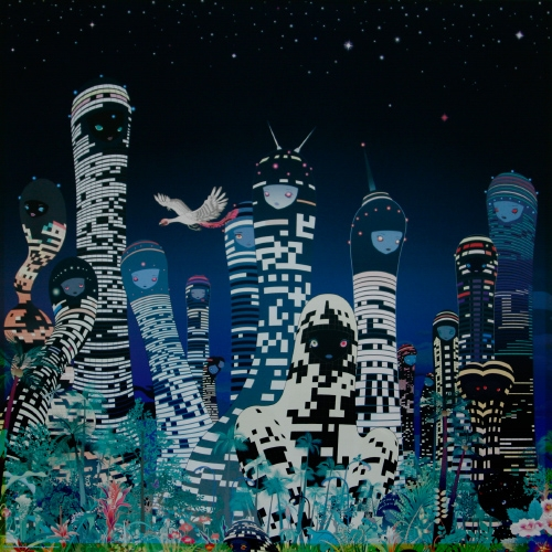 City Glow (UV damage) Print by Chiho Aoshima