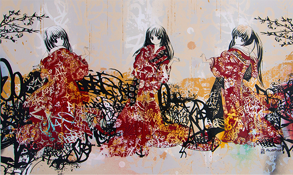 Hush Geisha Tryptic