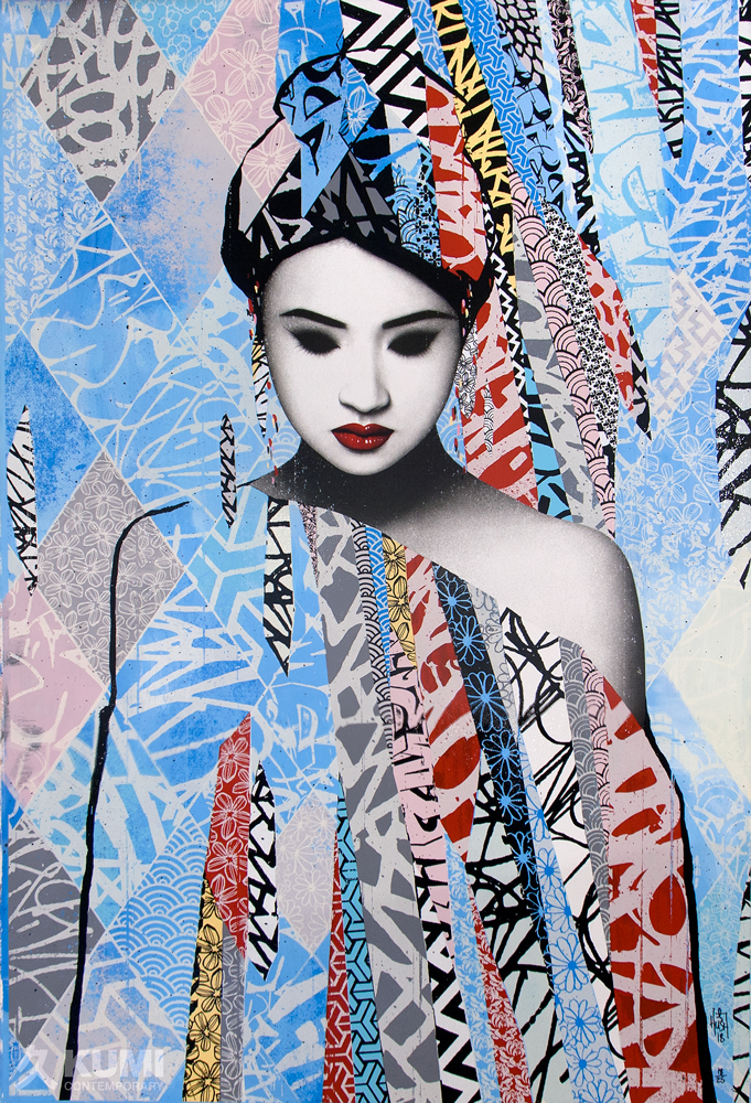 Introspective Blue (Unique) Print by Hush
