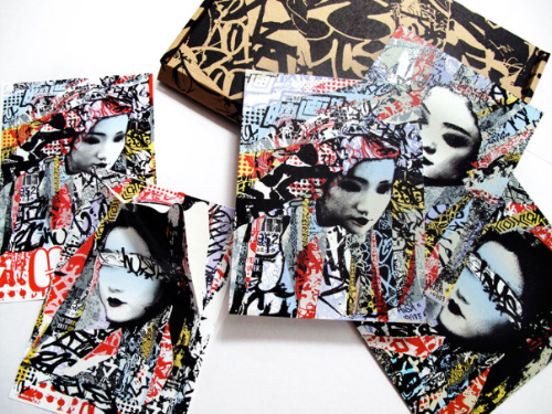Geisha Unmasked Print & Sticker Set Print by Hush