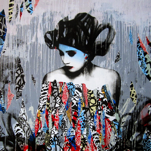 Siren in Motion (Single Siren) Print by Hush