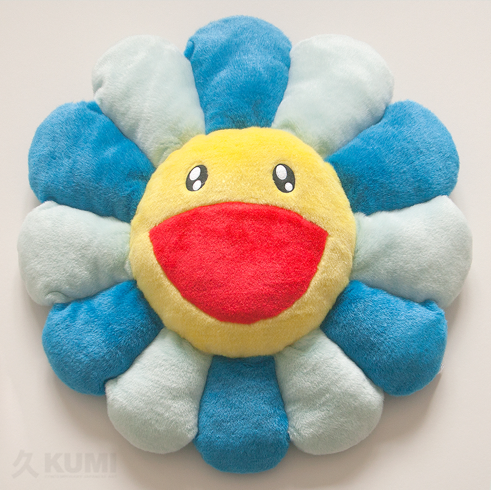Takashi Murakami Merchandise: Large Blue Flower Cushion