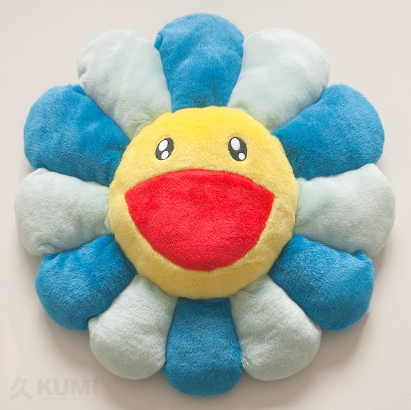 Large Blue Flower Cushion Original by Takashi Murakami Shop