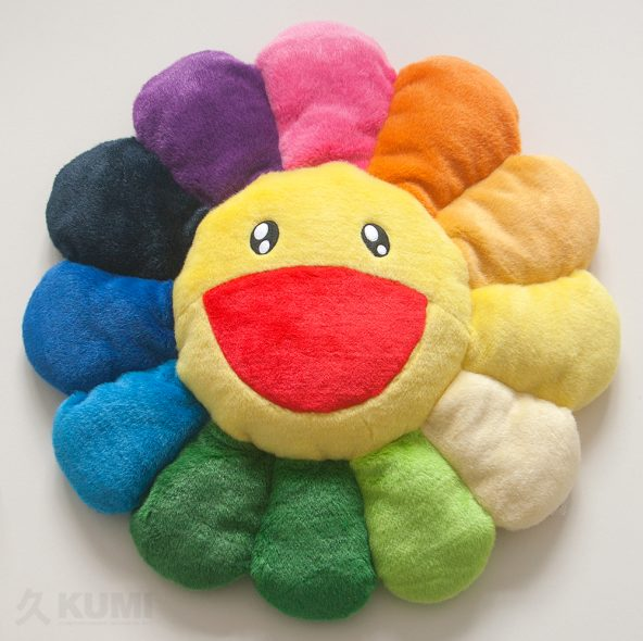 Large Rainbow Flower Cushion Original by Takashi Murakami Shop