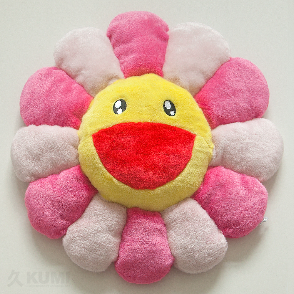 Takashi Murakami Large Pink Flower Cushion Original Kumi Contemporary