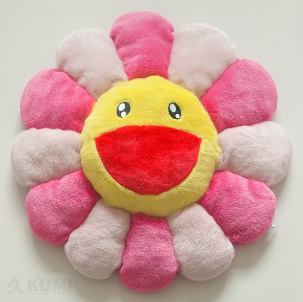 Large Pink Flower Cushion Original by Takashi Murakami Merchandise