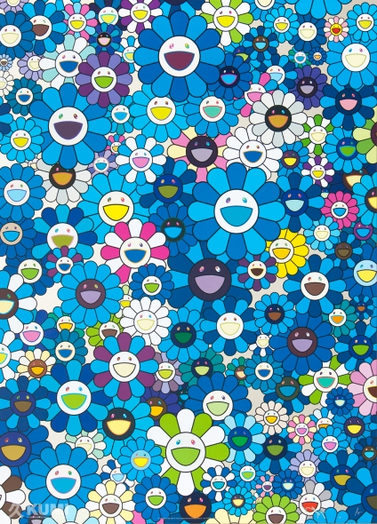 An Homage to Yves Klein Blue, D 1957 Print by Takashi Murakami