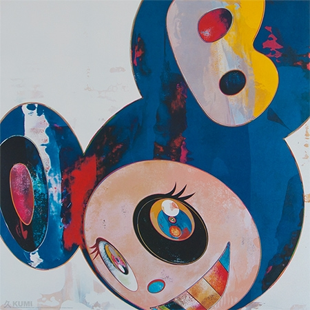 And Then Original Blue Print by Takashi Murakami