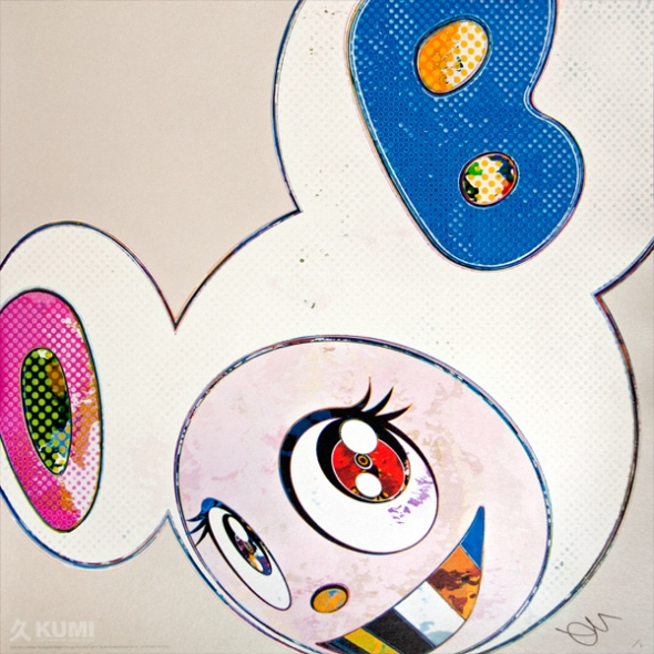 And Then x6 White Print by Takashi Murakami