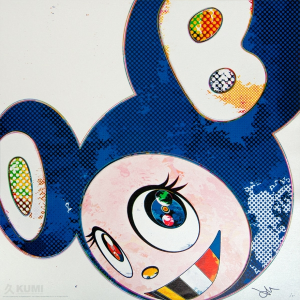 And Then x6 Marine Blue Print by Takashi Murakami