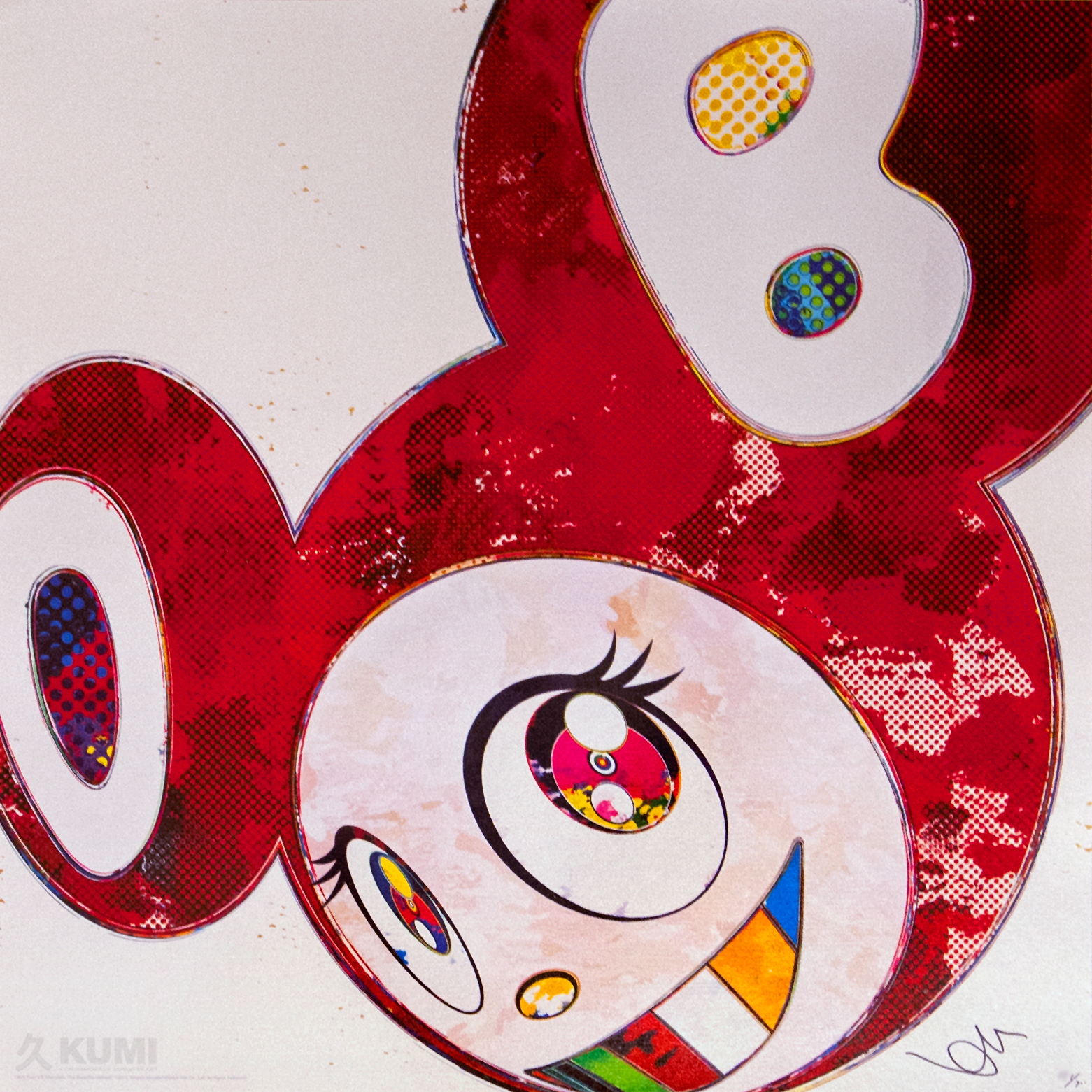 Takashi Murakami: And Then x6 Vermillion