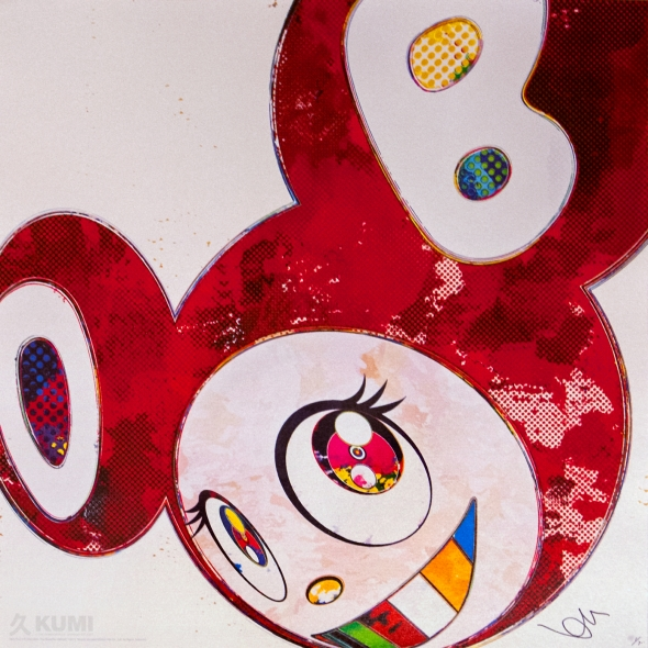 And Then x6 Vermillion Print by Takashi Murakami