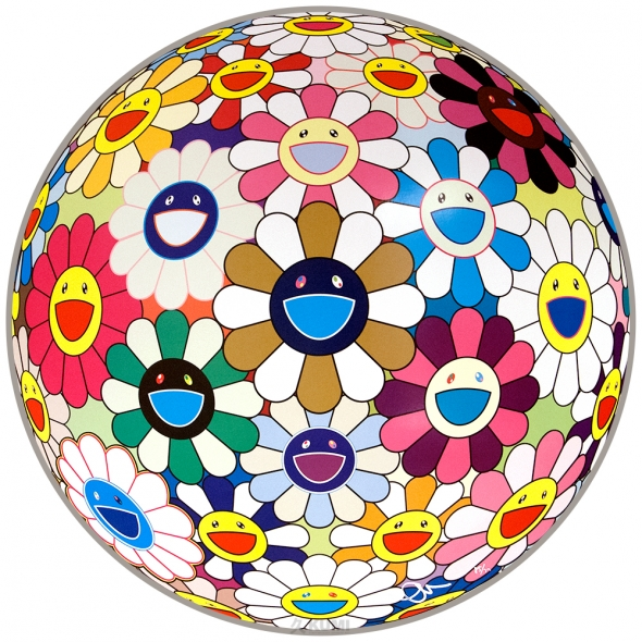 Flower Ball (Autumn) Print by Takashi Murakami