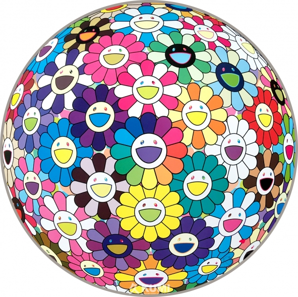 Flower Ball (Multicolor Thoughts on Matisse) Print by Takashi Murakami
