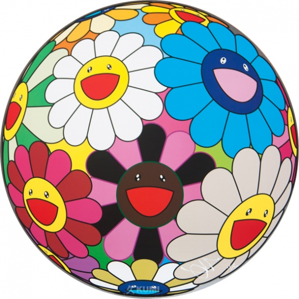 Flower Ball (Algae Ball) Print by Takashi Murakami