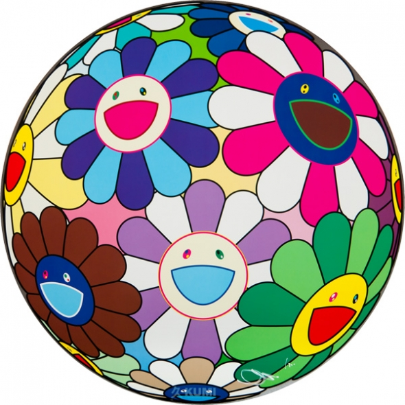Flower Ball (Dumpling) Print by Takashi Murakami