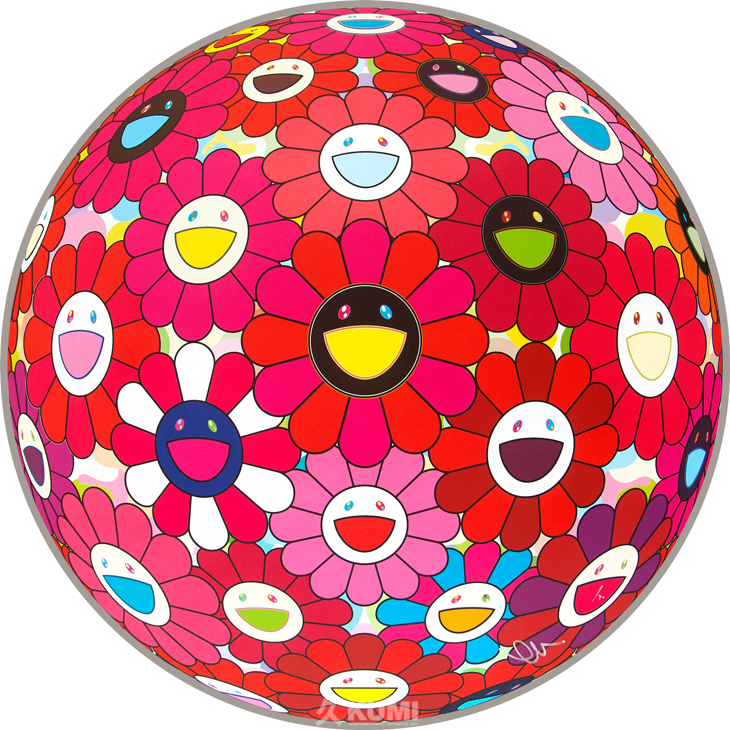 Takashi Murakami: Flower Ball Red (Letter to Picasso)