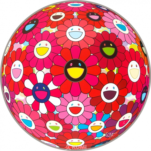 Flower Ball Red (Letter to Picasso) Print by Takashi Murakami