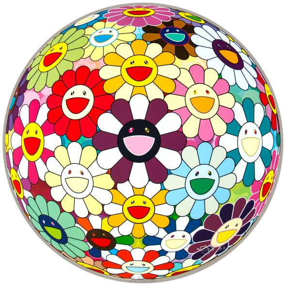 Flower Ball (Sexual Violet) Print by Takashi Murakami