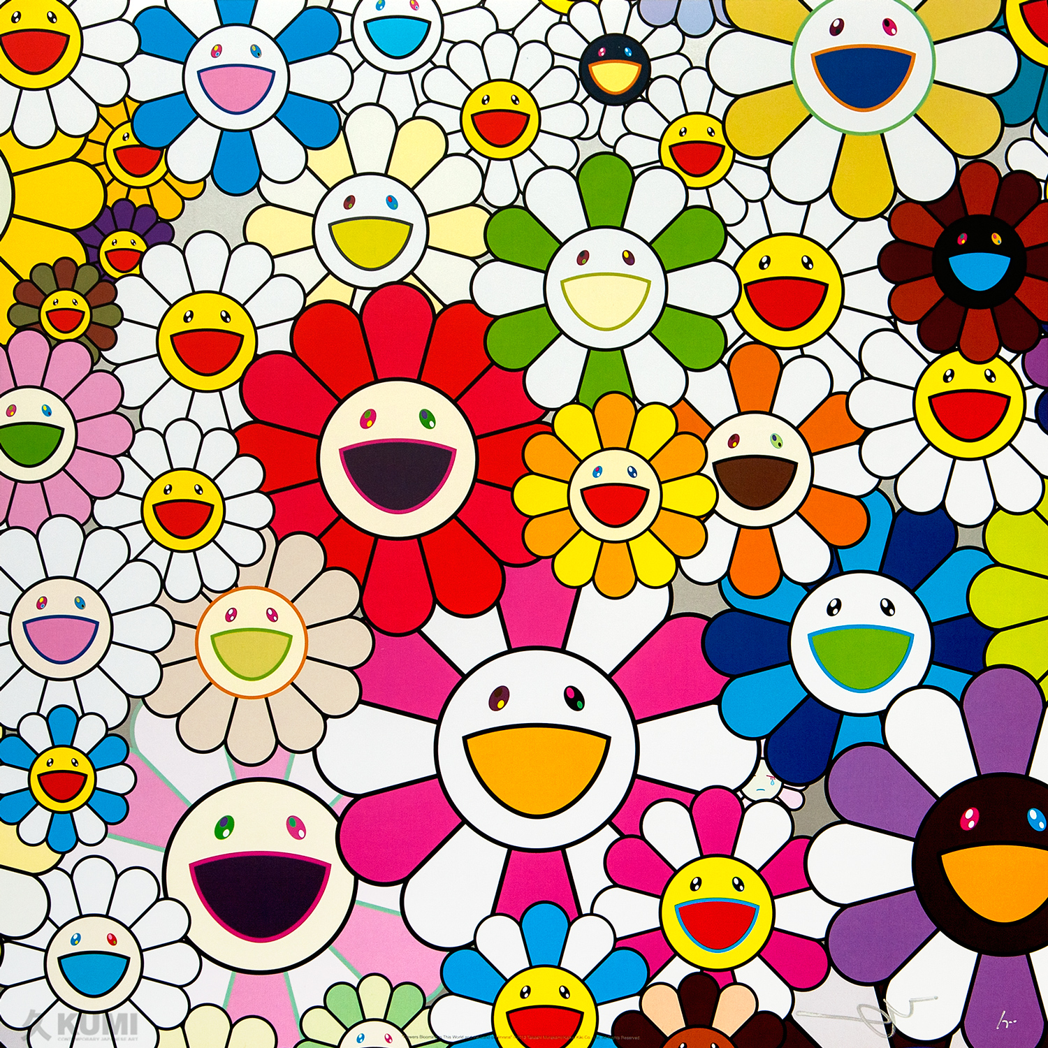 TAKASHI MURAKAMI Flowers Blooming in This World and the Land of Nirvana, 1
