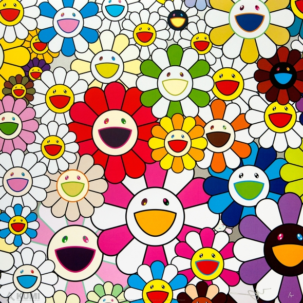 Flowers Blooming in This World and the Land of Nirvana, 1 Print by Takashi Murakami