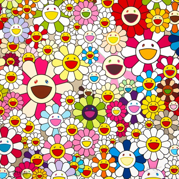 Flowers Blooming in This World and the Land of Nirvana, 2 Print by Takashi Murakami