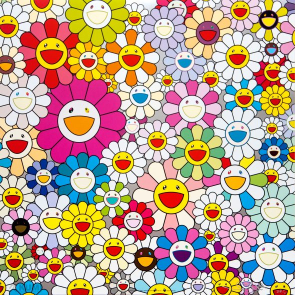 Flowers from the village of Ponkotan Print by Takashi Murakami