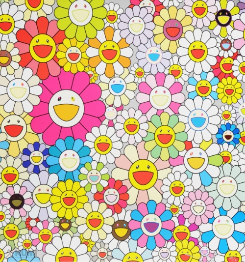 Takashi Murakami Flowers from the village of Ponkotan