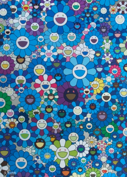 An Homage to IKB 1957 Print by Takashi Murakami