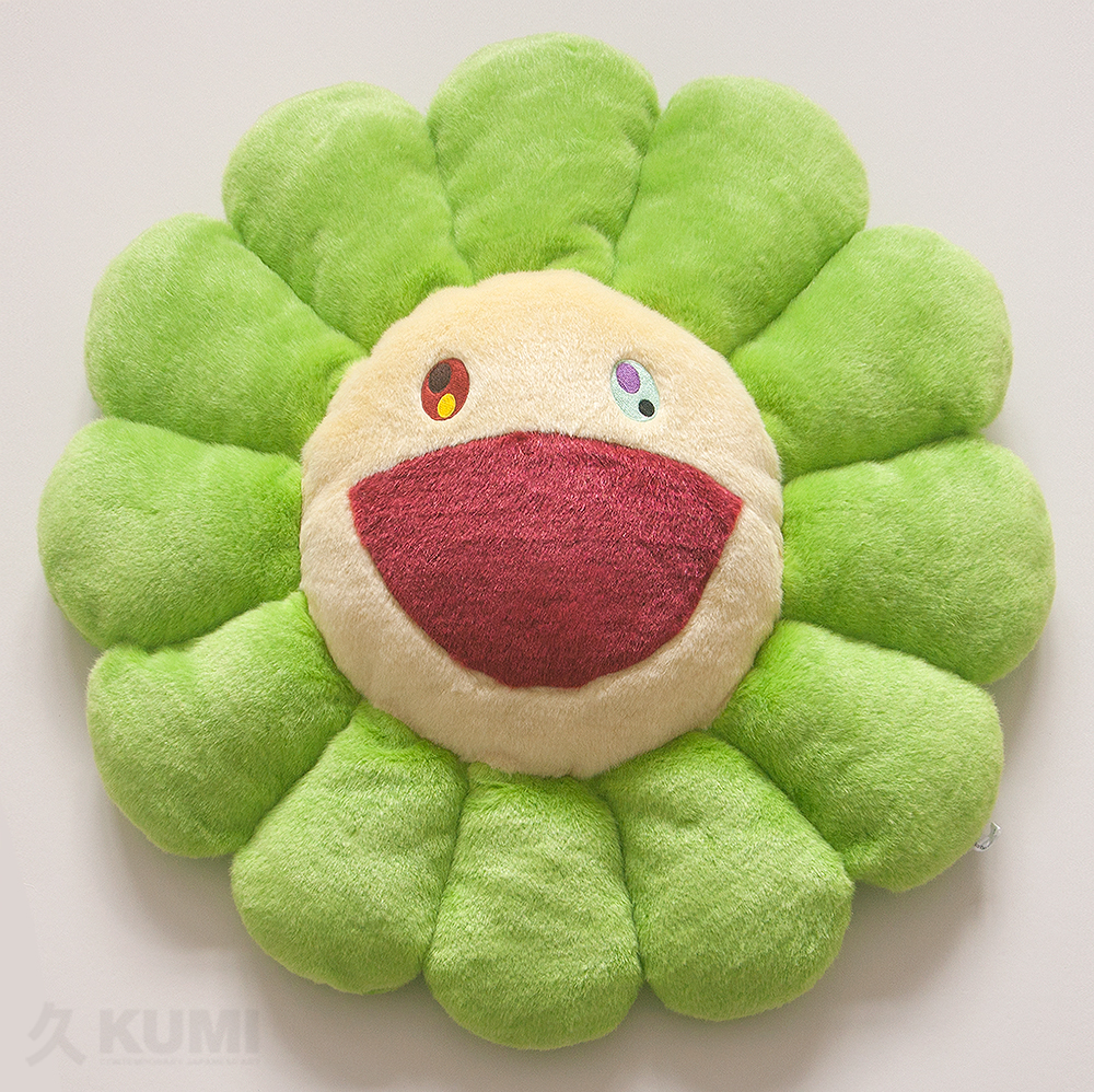 Takashi Murakami Merchandise: Large Green Flower Cushion