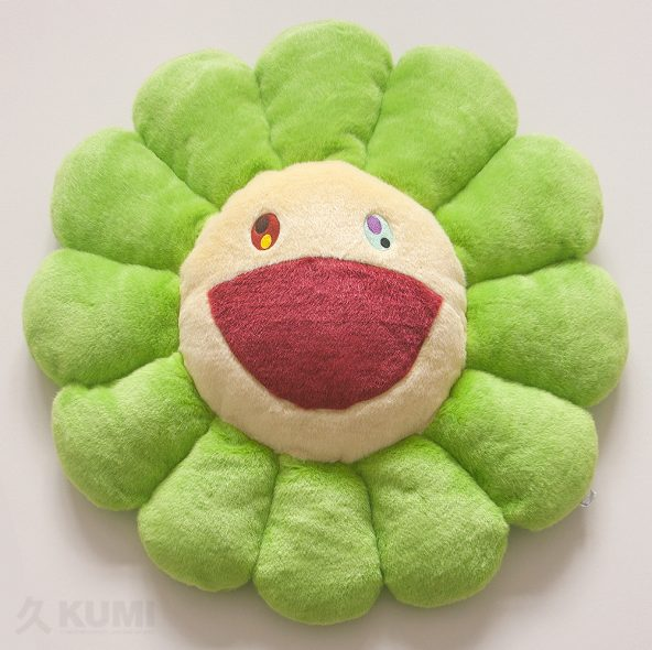 Large Green Flower Cushion Original by Takashi Murakami Shop